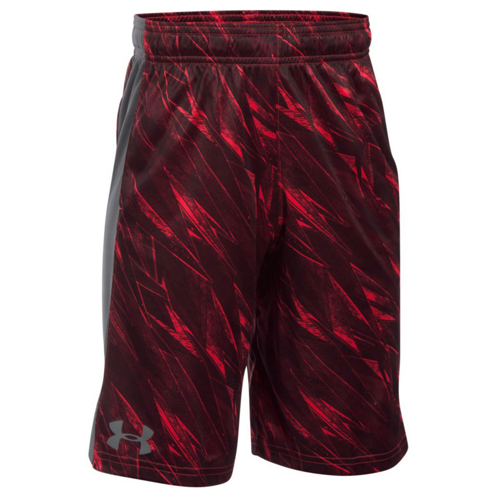 Under Armour Boys' UA Eliminator Printed Short Red Shorts S 822707REDS