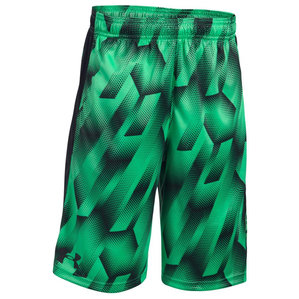 Under Armour Boys' UA Eliminator Printed Short Green Shorts L 822707VAPL