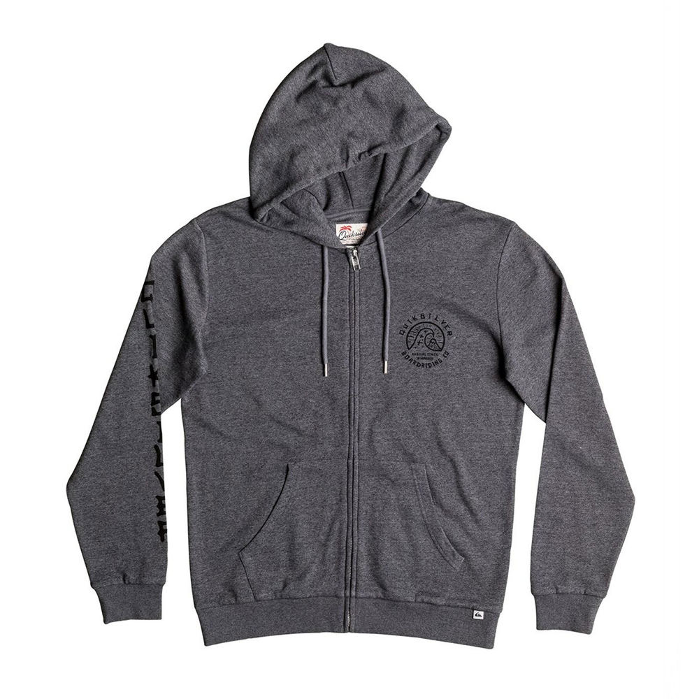 Quiksilver Men's Jungle Forest Zip Hoodie Grey Jackets L 711266GRYL