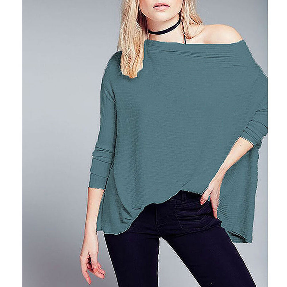 Free People Women's Lover Rib Thermal Turquoise 711296