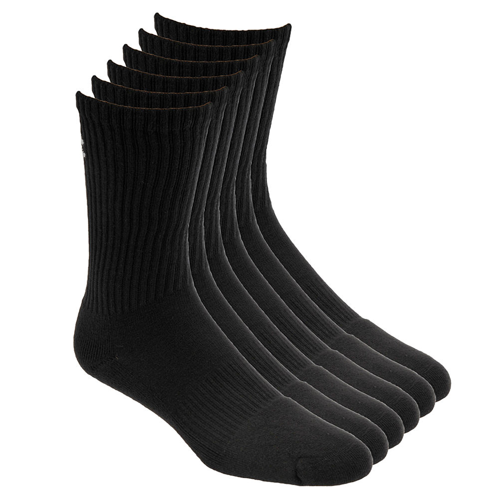 Under Armour Men's Charged Cotton 2.0 Crew Sock Black Socks XL 647097BLK1XL