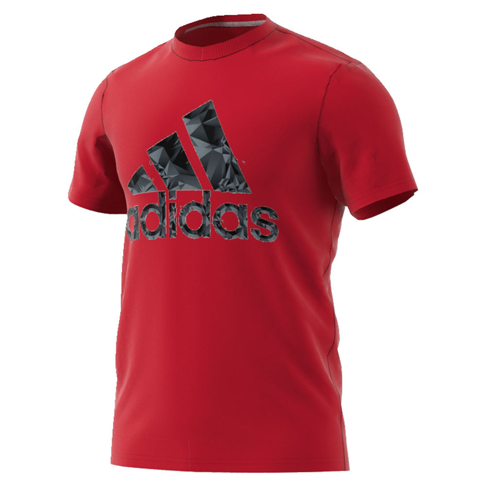adidas Men's Adi Shatter Tee Red Knit Tops M 711452SCRM