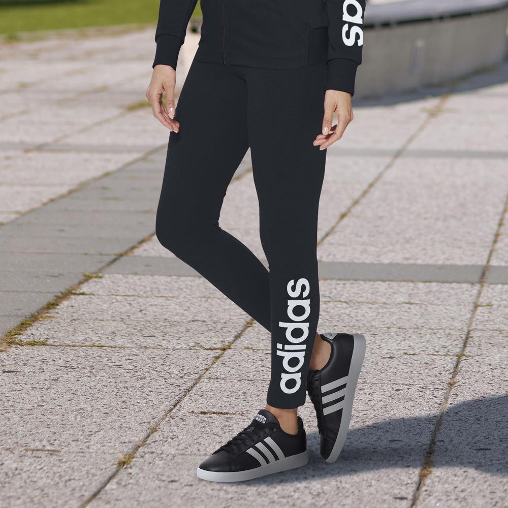 Adidas Women's Essentials Linear Logo Tights Black Pants ...