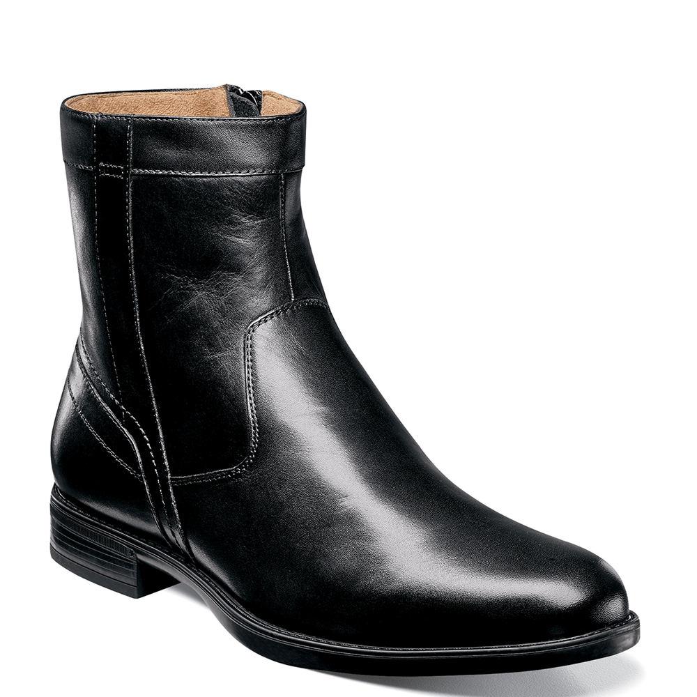 Florsheim Midtown Plain Toe  Men's Black Boot 10 D