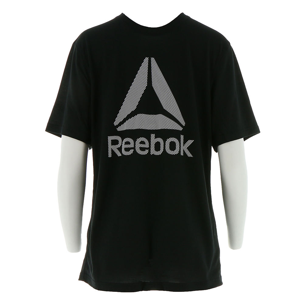 Reebok Men's WR Supremium 2.0 Tee Big Logo Black Knit Tops XXL 711648BLK2XL