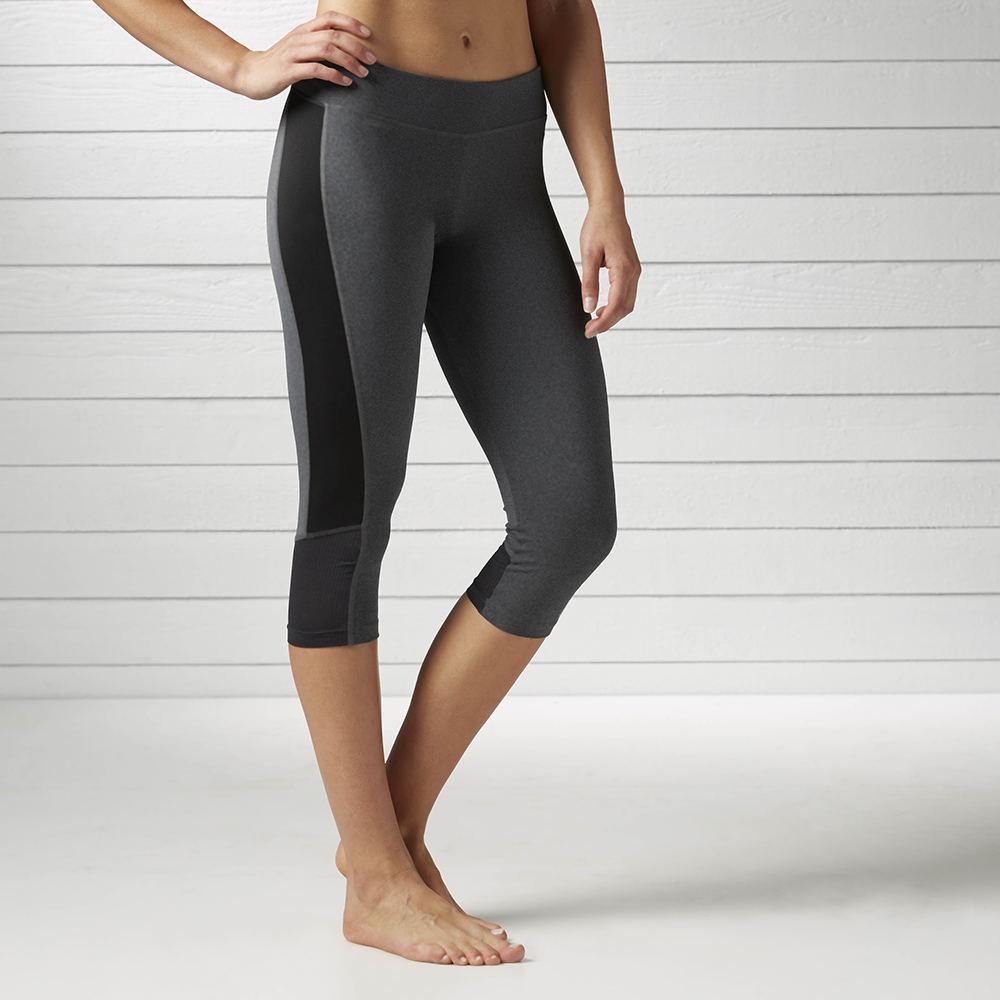 Reebok Women's WR Capri Colored Block Pants Grey Pants M-Regular 711666DHGM