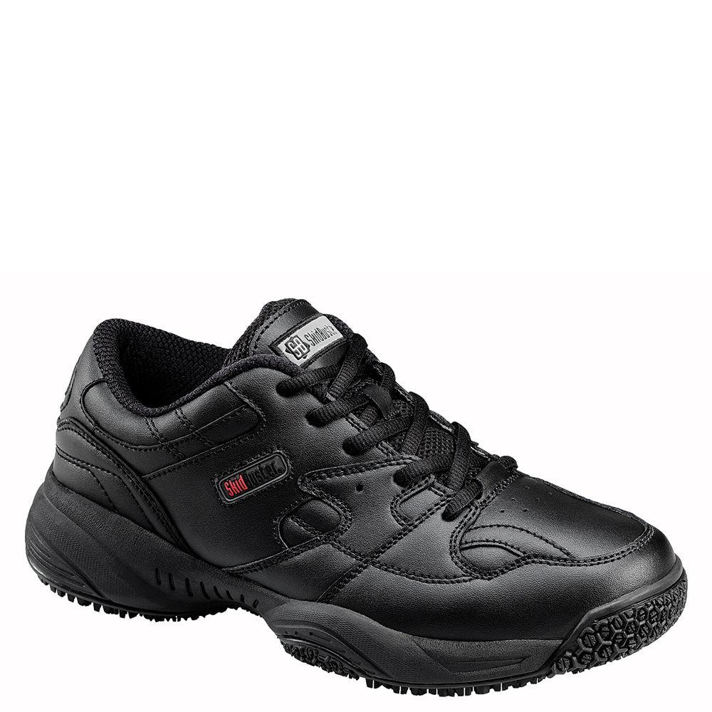 Skidbuster Soft Toe Slip Resistant Men's Black Oxford 9.5 M