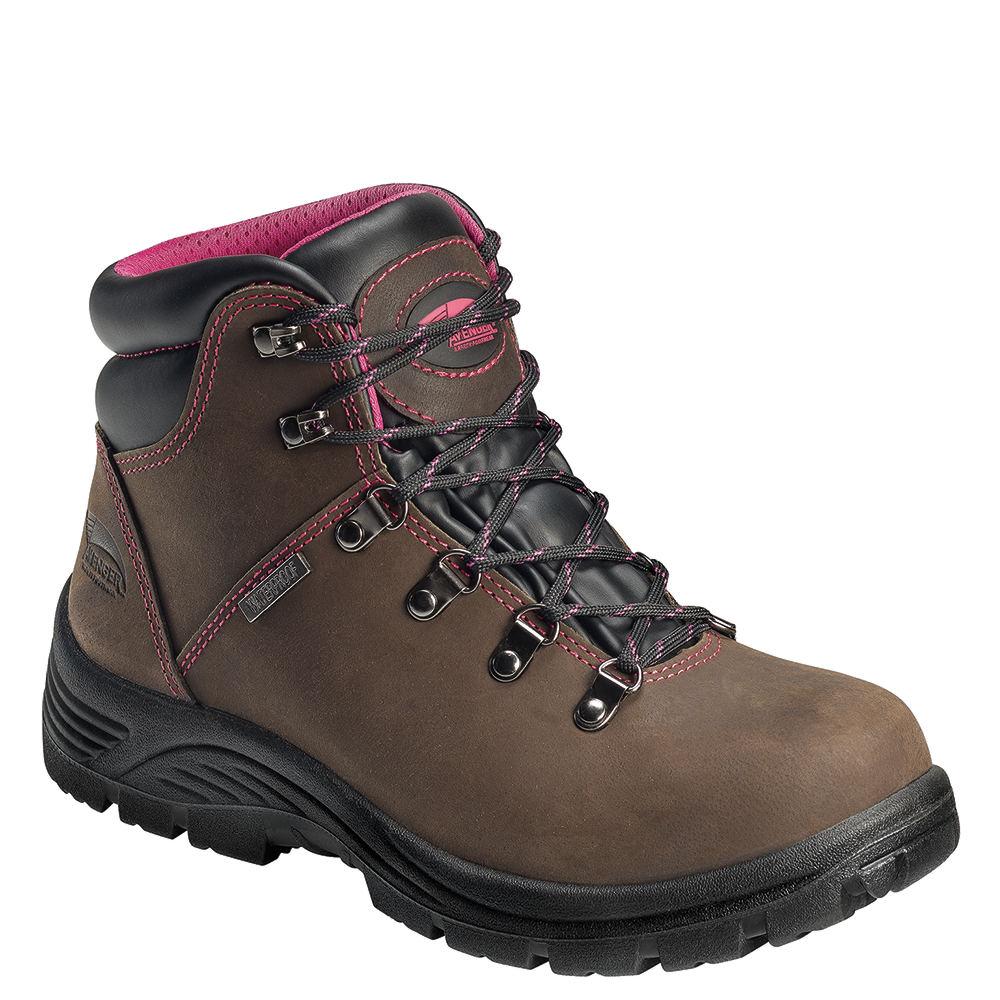 Avenger Slip Resistant ST Women's Brown Boot 6 W