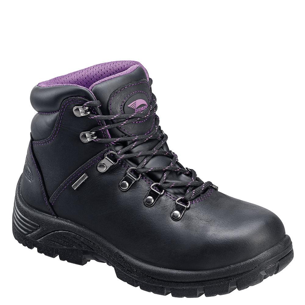 Avenger Slip Resistant ST Women's Black Boot 7 W