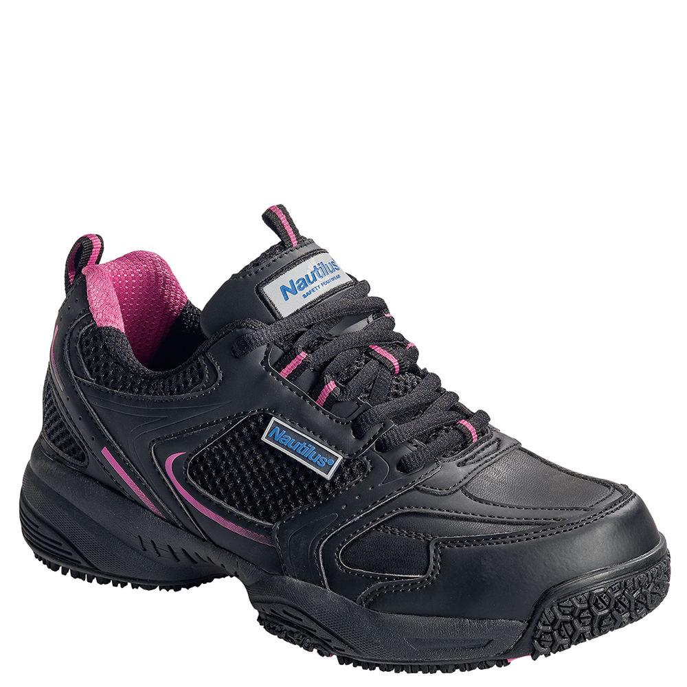 Nautilus Athletic Slip Resistant ST Women's Black Oxford ...