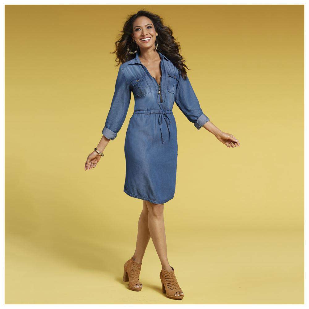 Masseys Denim Dress (Size 24W) Denim, Cotton,Rayon