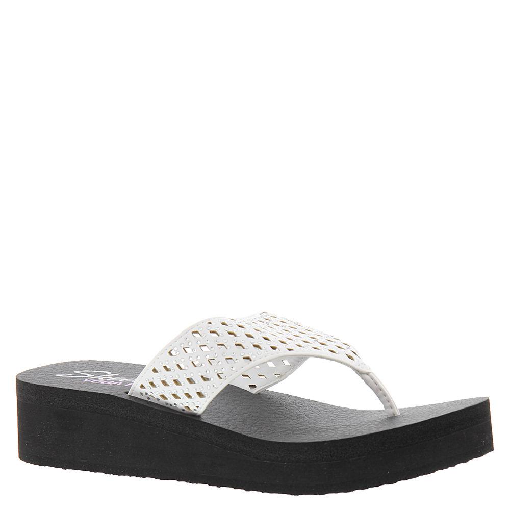 Skechers Cali Vinyasa Thong Women's White Sandal 10 M