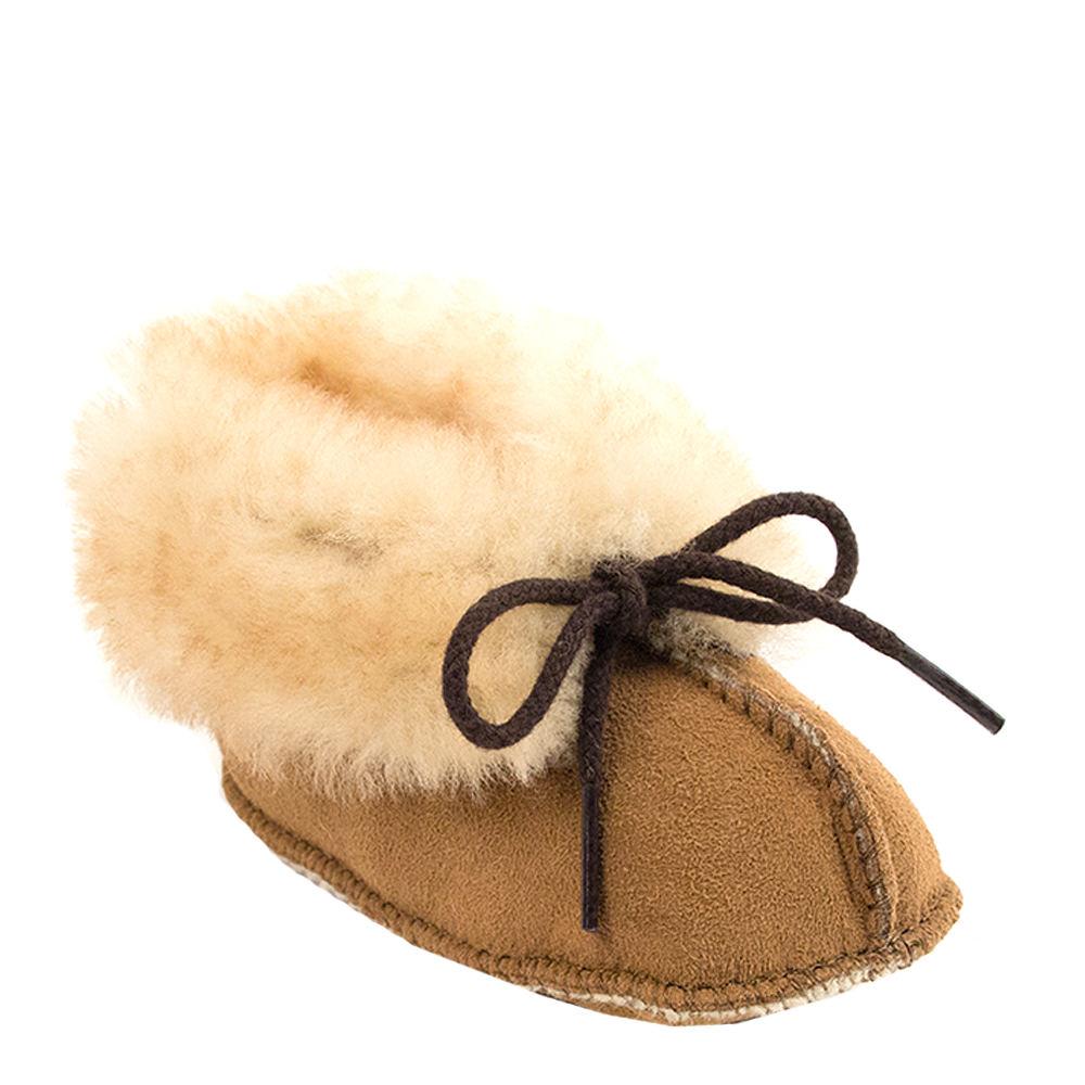 Minnetonka Sheepskin  Unisex Infant-Toddler Tan Boot 2 In...