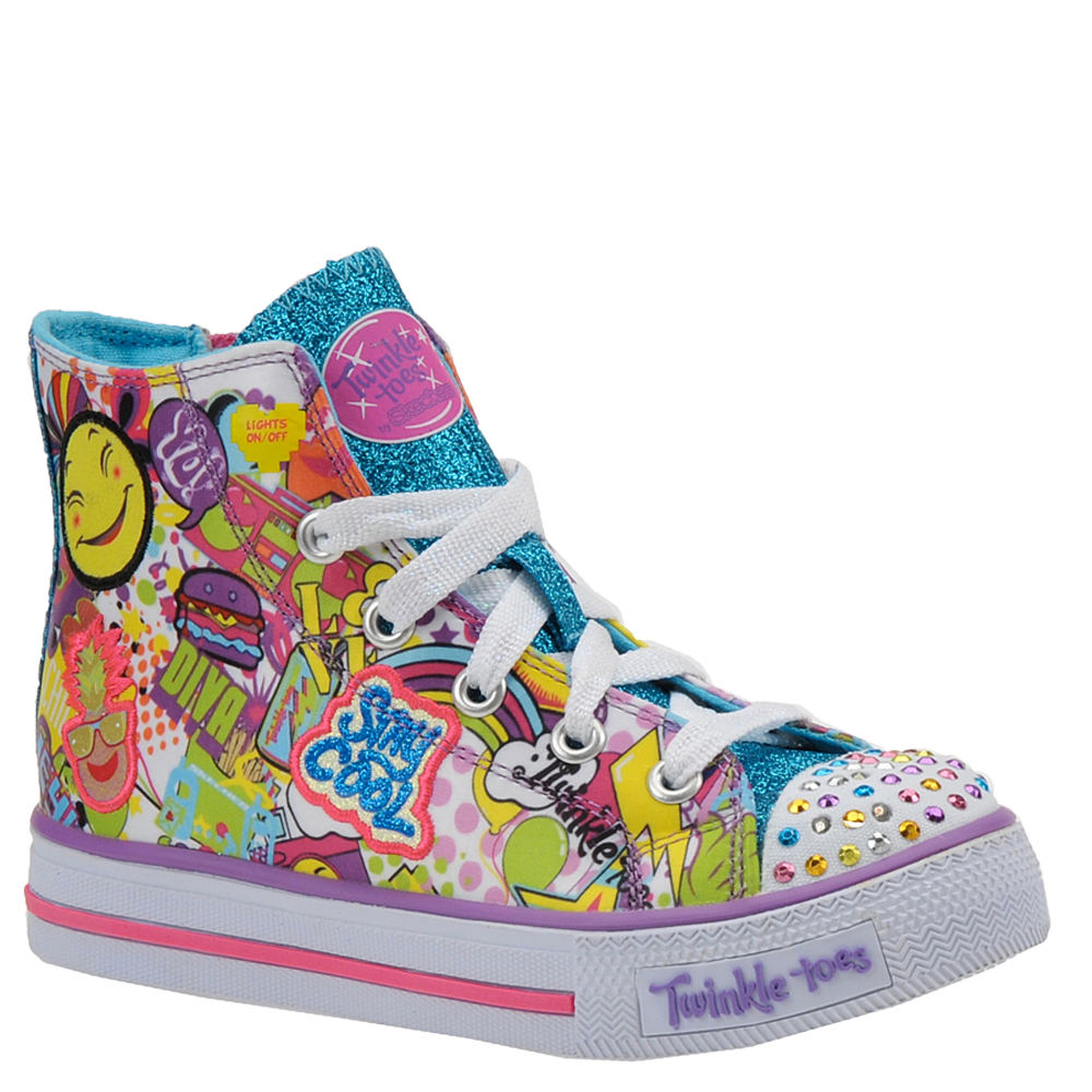 Skechers Twinkle Toes Shuffles 10746L Girls' Toddler-Yout...