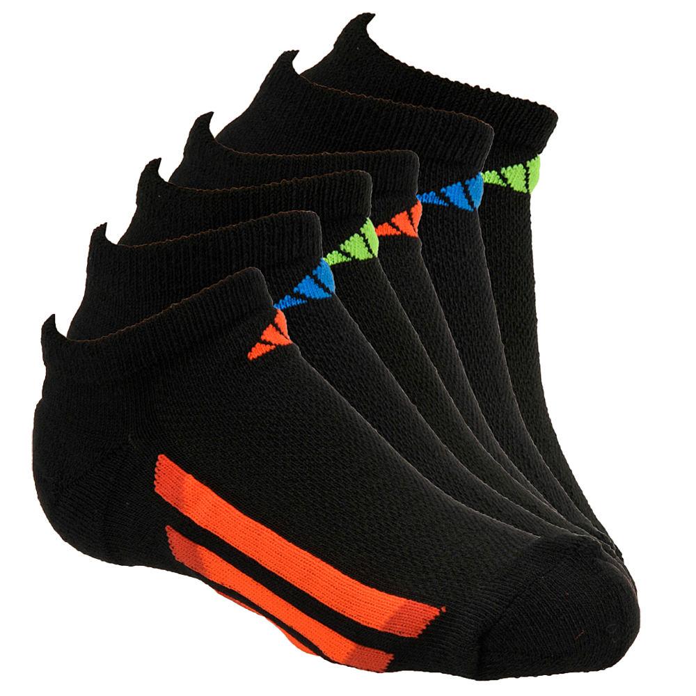 adidas Vertical Stripe 6-Pack No Show Socks Boys' Black Socks M 823369BLKMED