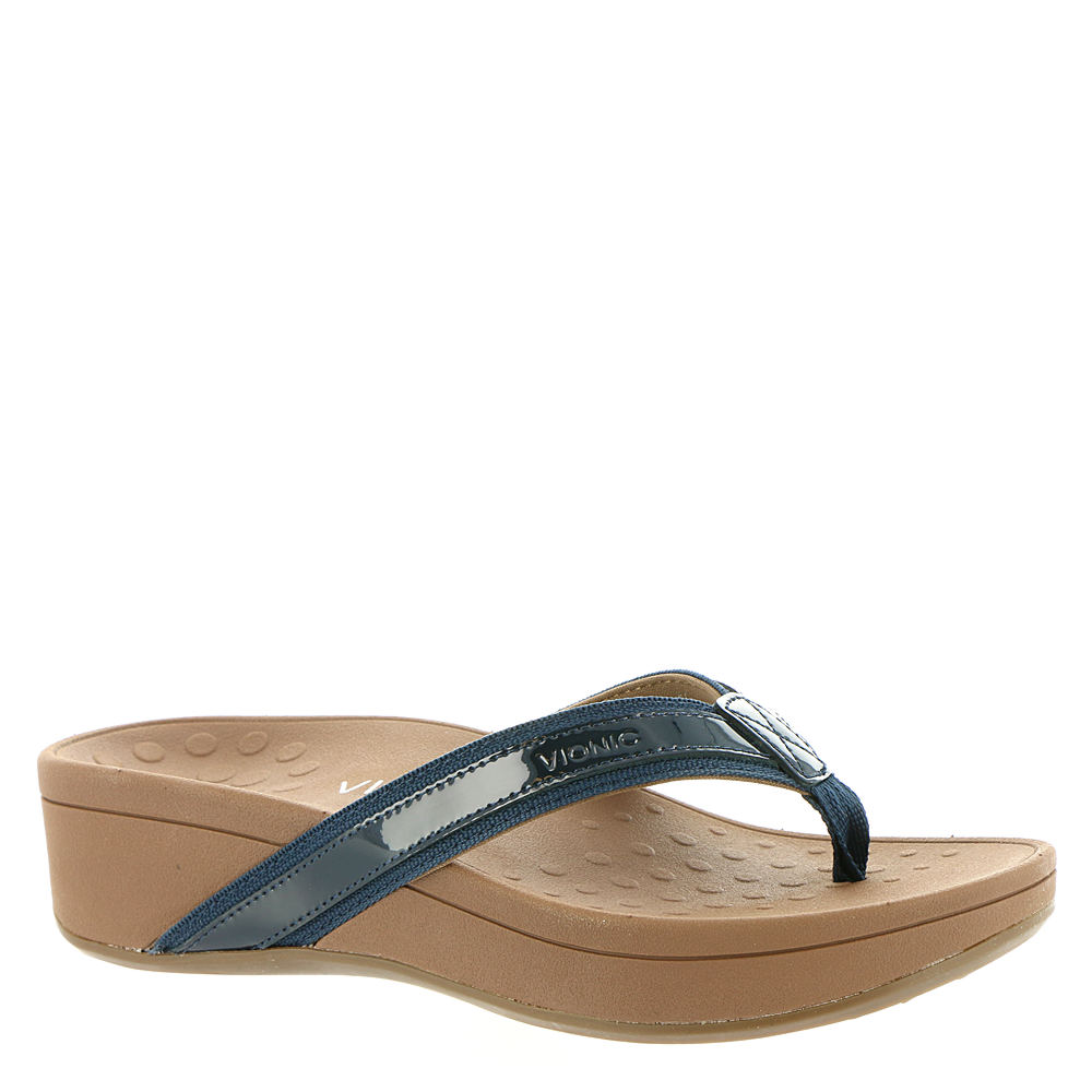 Vionic with Orthaheel High Tide Women's Navy Sandal 8 M