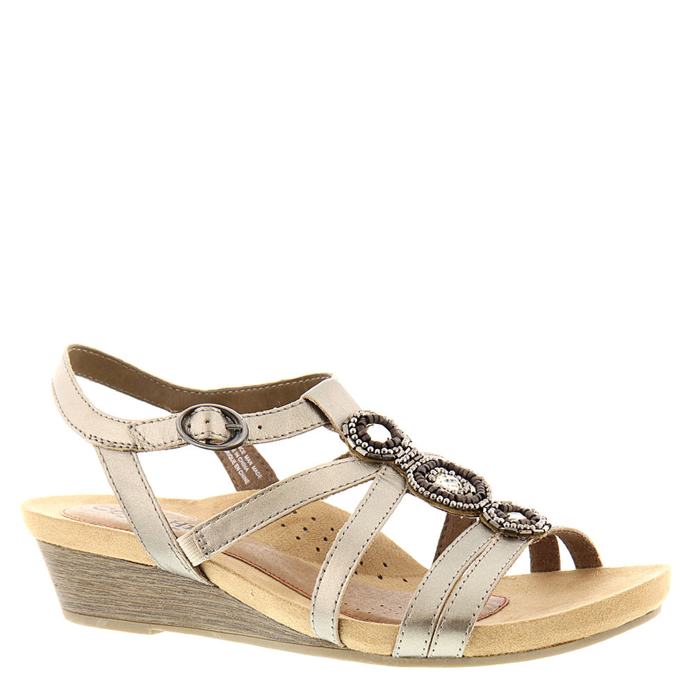 Cobb Hill Collection Hannah T-Strap Women's Pewter Sandal...