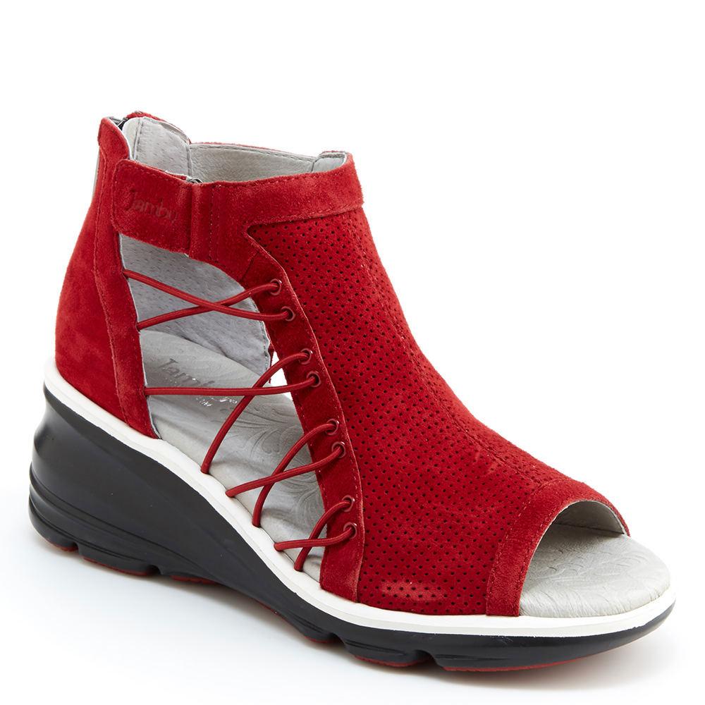 Jambu Naomi Women's Red Sandal 6 M