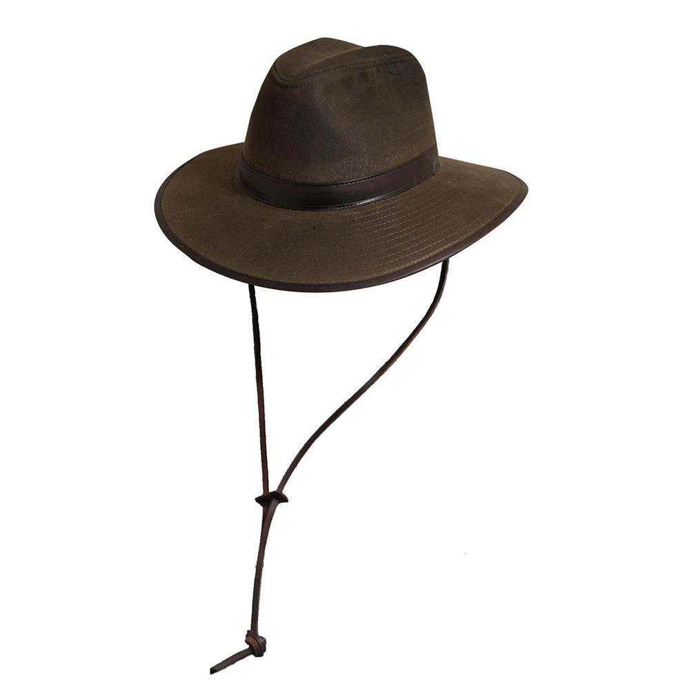 DPC Outdoor Design Men's Oil Cloth Outback Hat Brown Hats XL