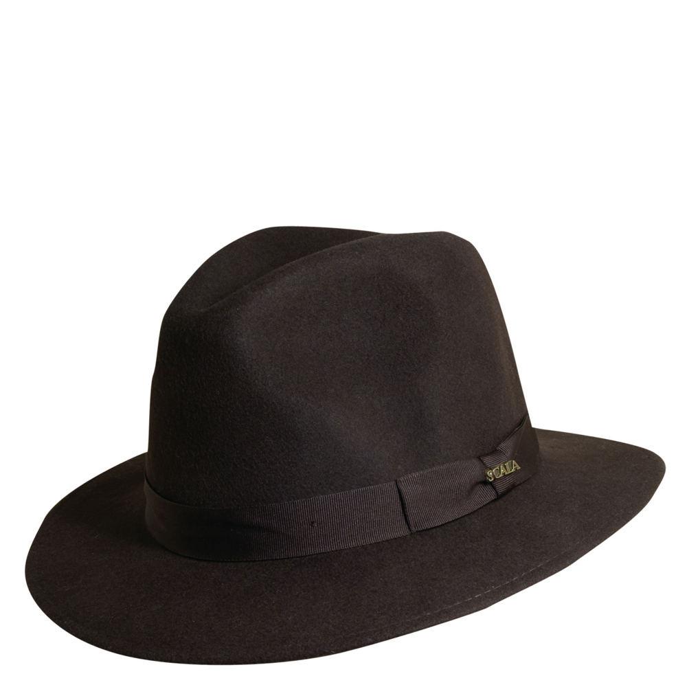 Scala Classico Men's Crushable Grosgrain Safari Brown Hats M
