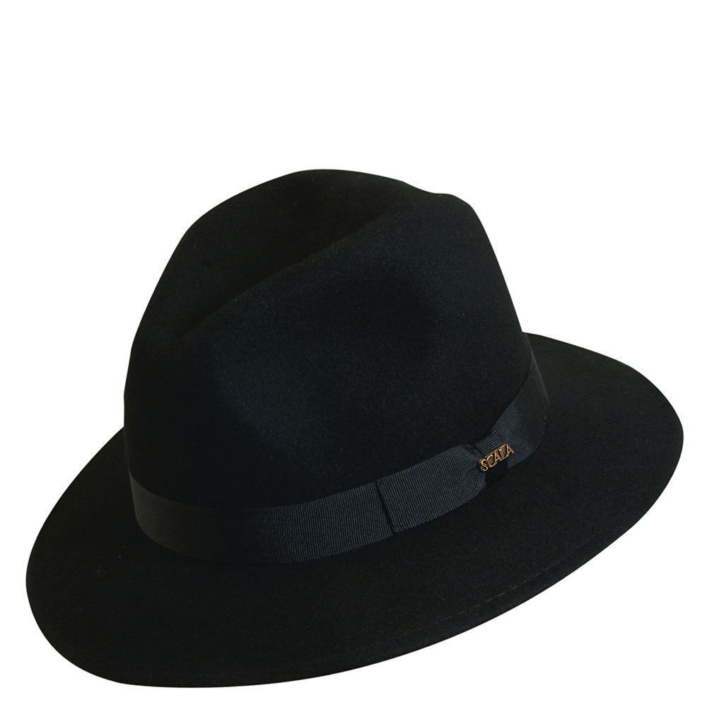 Scala Classico Men's Crushable Grosgrain Safari Black Hat...