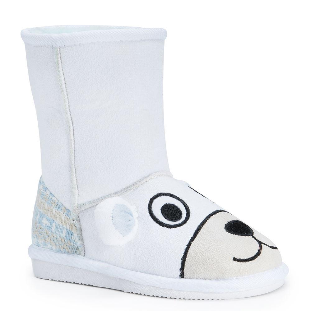 Mukluks Snowball Polar Bear Kids Toddler White Boot 10 To...