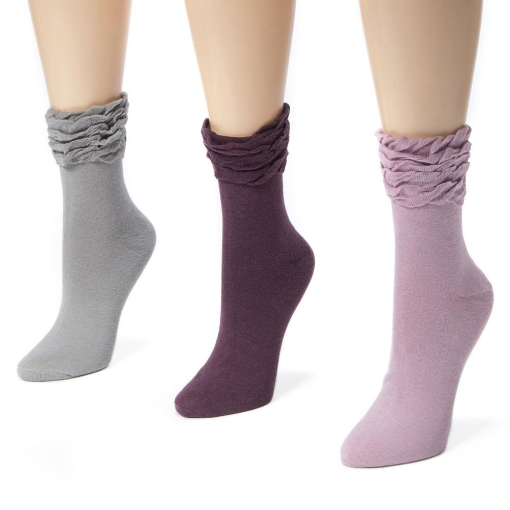 3 Pair Ruffle Crew Socks Multi Socks One Size 536915MLT