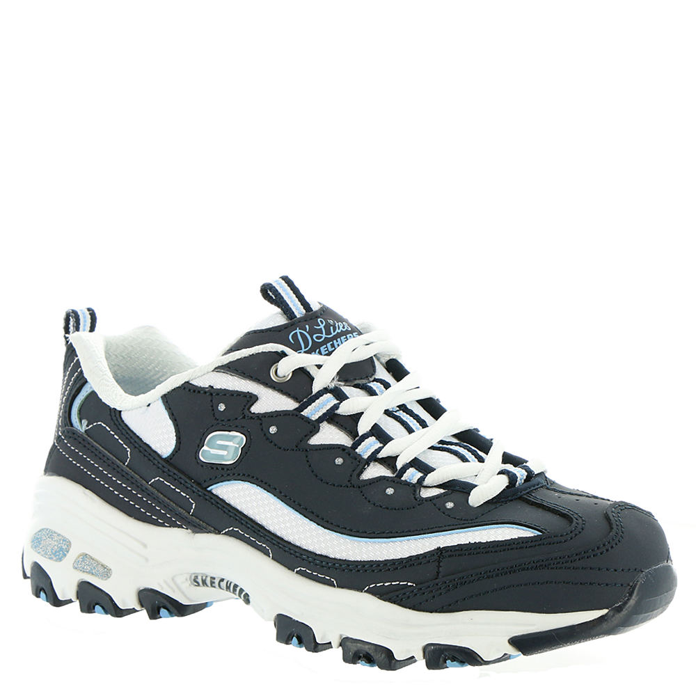 Skechers Sport D'Lites-Biggest Fan Women's Navy Sneaker 7 W