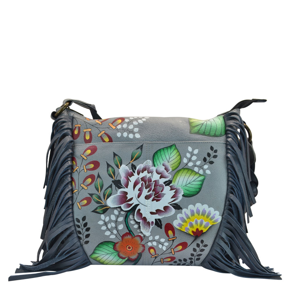 Anna by Anuschka Fringed Shoulder Hobo Multi Bags No Size
