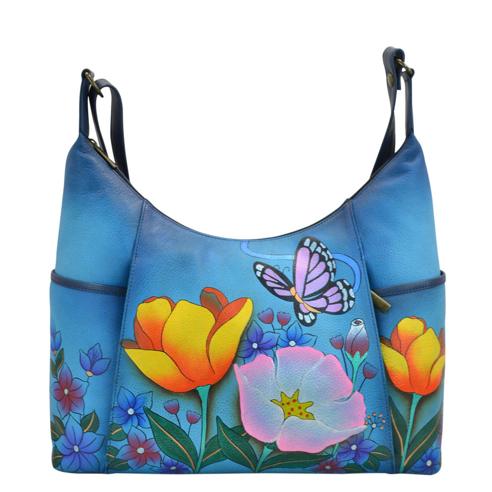 Anna by Anuschka Medium Tote - Front Zip Multi Bags No Size