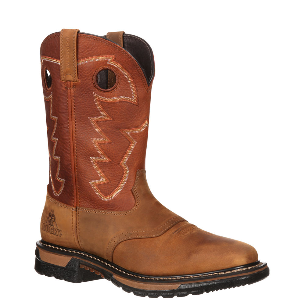 Rocky Original Ride Waterproof Men's Tan Boot 9 W 649196TAN090W