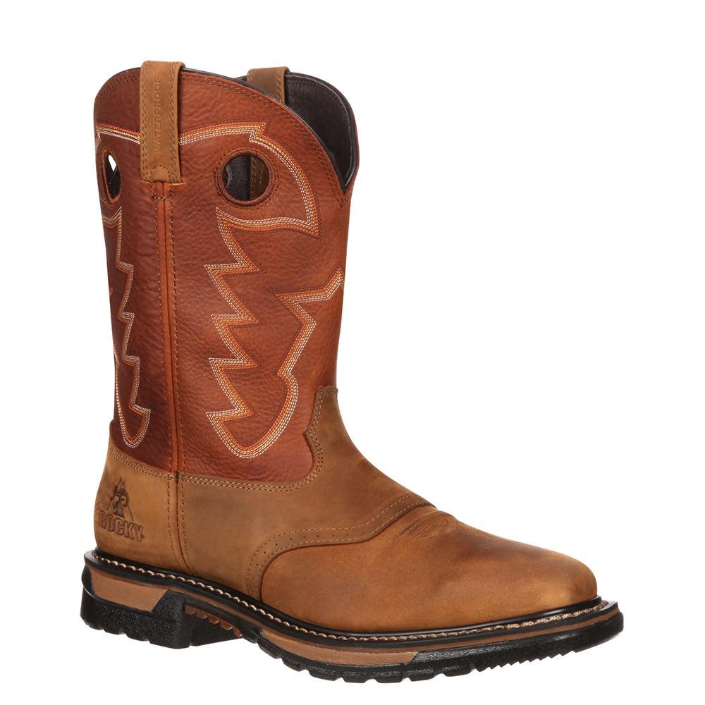 Rocky Original Ride Steel Toe Waterproof Men's Tan Boot 14 W