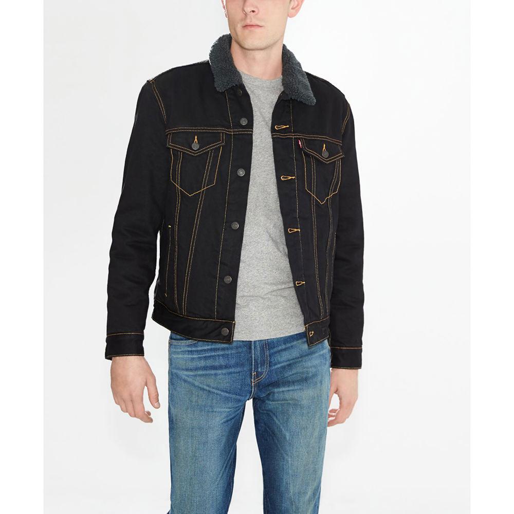 Levi's Men's Sherpa Trucker Jacket Blue Jackets L