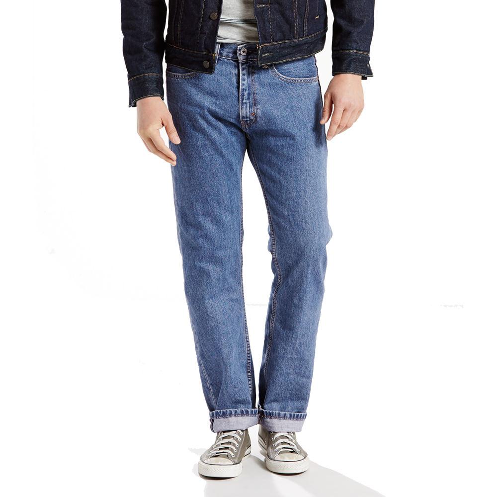 Levi's Men's 505 Regular Fit Jeans Blue Pants 42-32