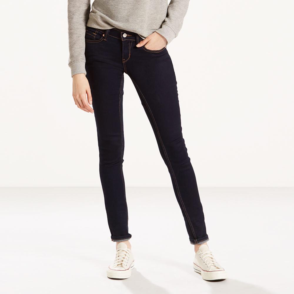 Levi's Misses 524 Skinny Jeans Blue Pants 13-Short