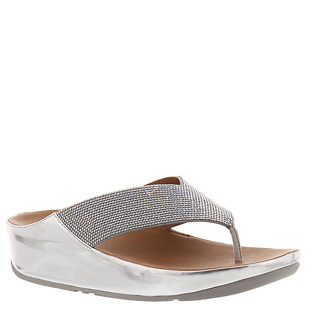 FitFlop Crystal Toe Post Women's Silver Sandal 11 M