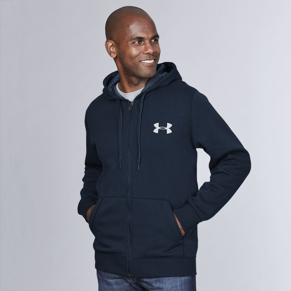 Under Armour Men's Rival Full Zip Hoodie Navy Jackets M 712317MIDM