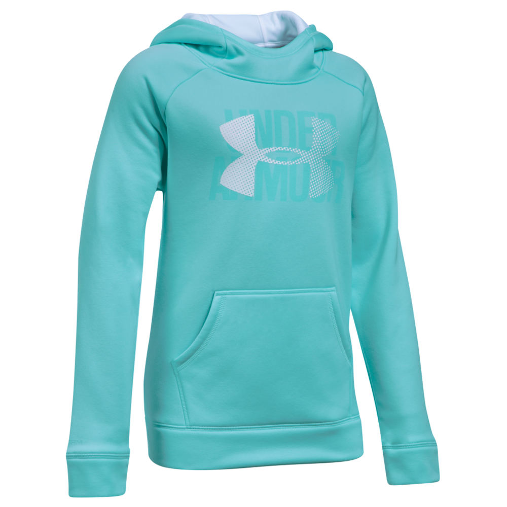 Under Armour Girls' Armour Fleece Highlight Novelty Hoodie Blue Knit Tops S 823954LBUS