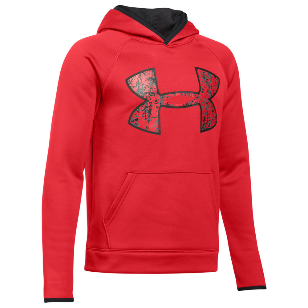 Under Armour Boys' Armour Fleece Big Logo Hoodie Red Jackets L 823955REDL