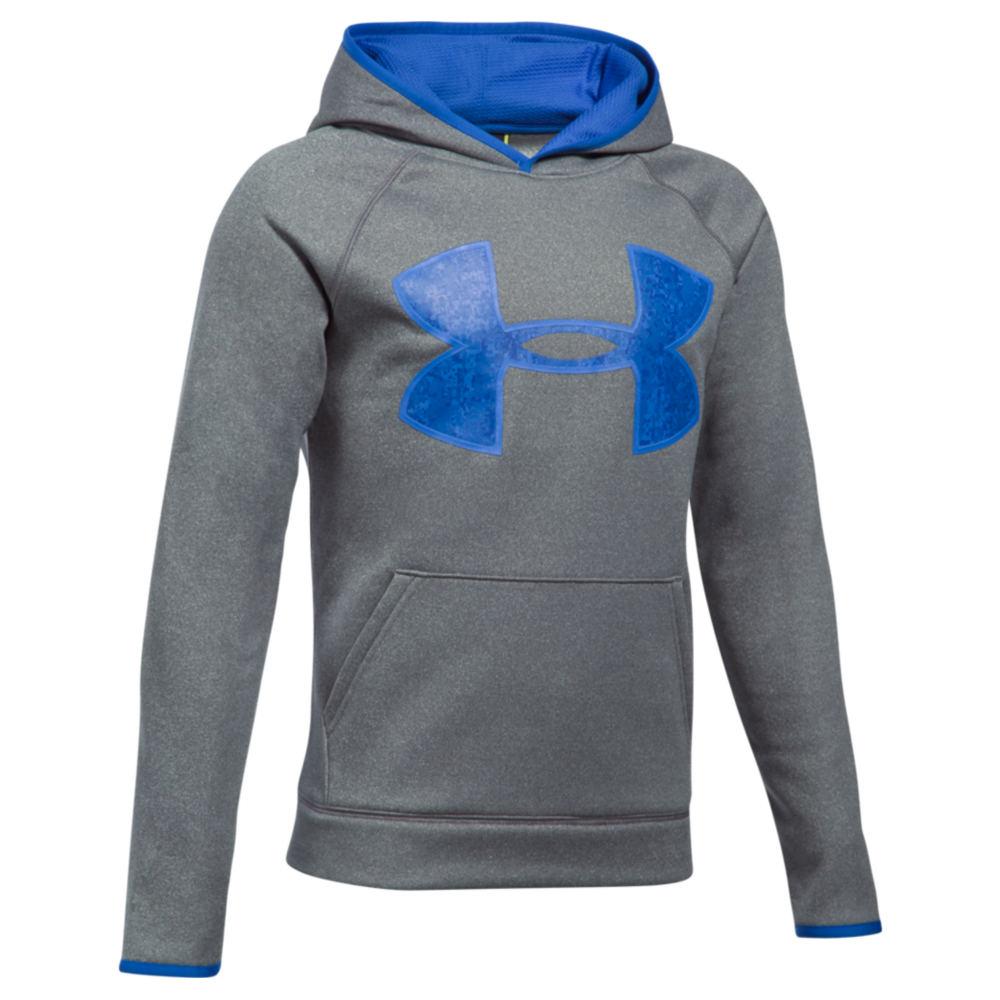 Under Armour Boys' Armour Fleece Big Logo Hoodie Grey Jackets L 823955GRAL