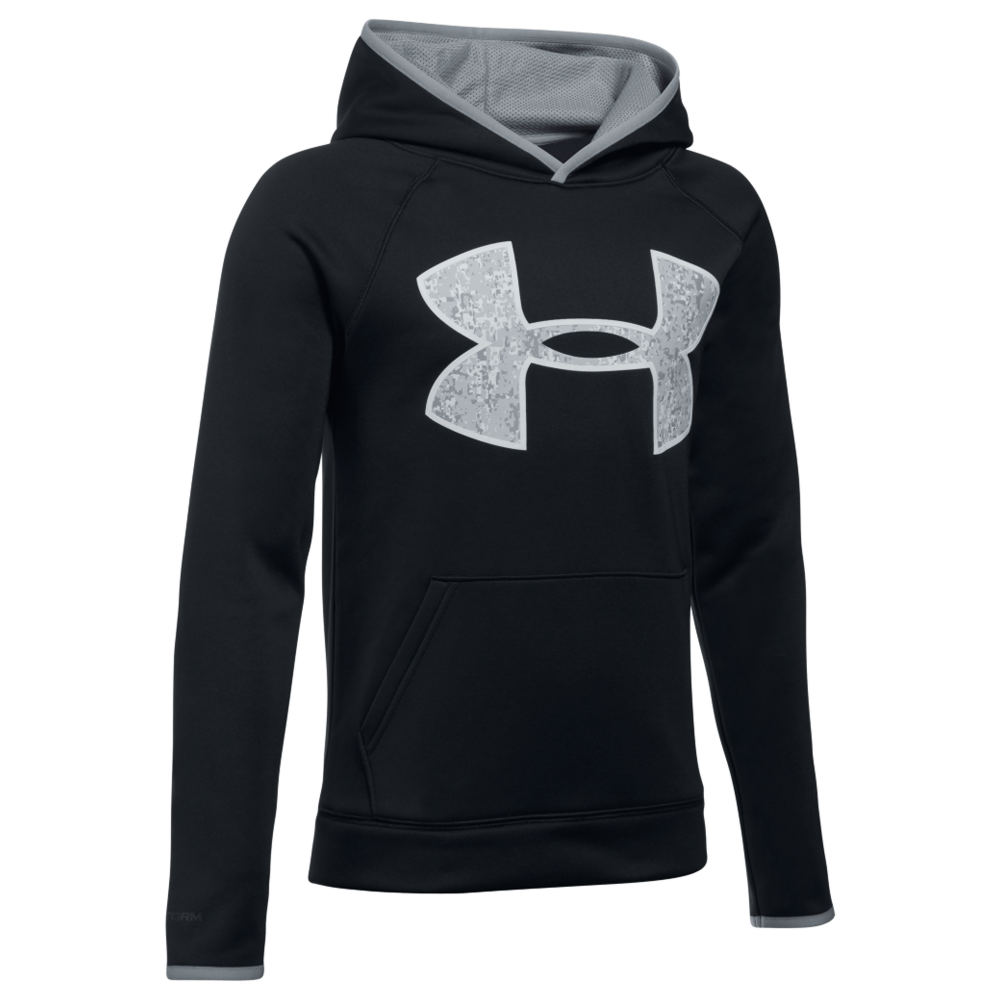 Under Armour Boys' Armour Fleece Big Logo Hoodie Black Jackets L 823955BLKL