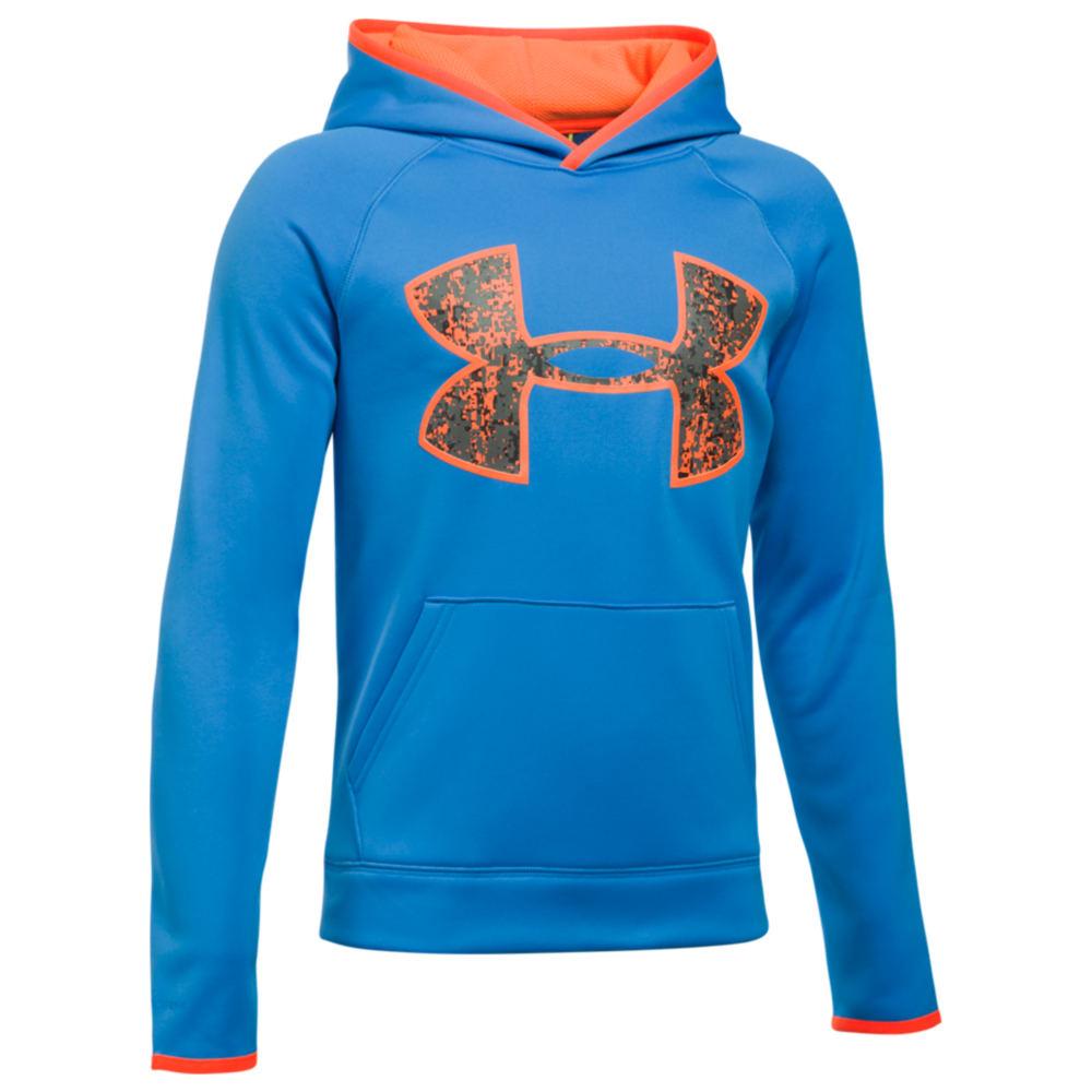Under Armour Boys' Armour Fleece Big Logo Hoodie Blue Jackets M 823955BLUM