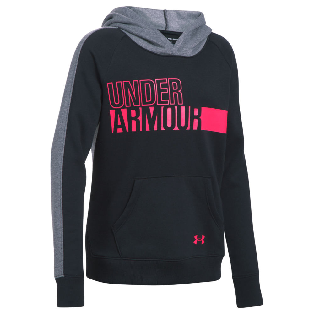 Under Armour Girls' Favorite Fleece Hoodie Black Knit Tops L 823960BLKL