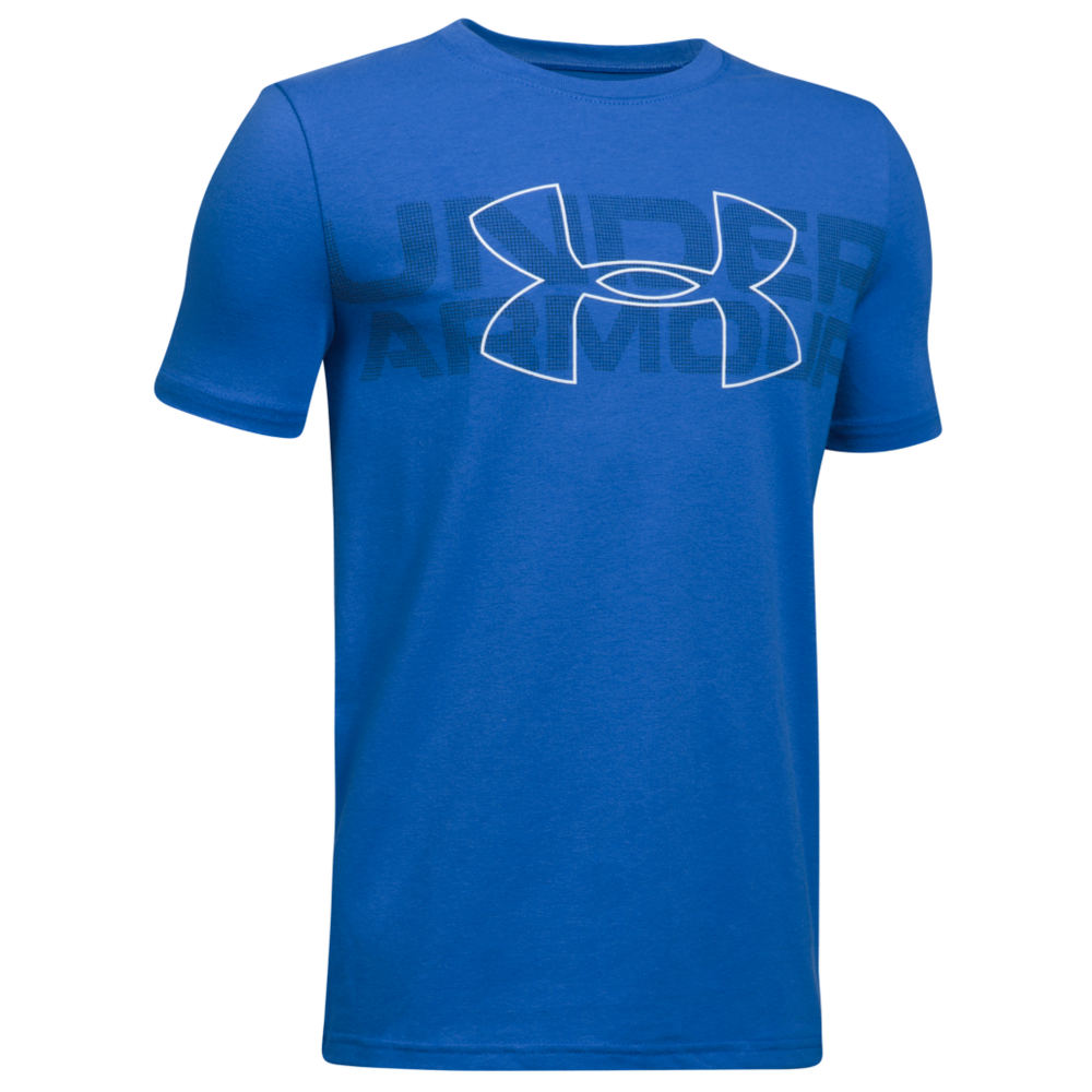 Under Armour Boys' Duo Armour SS Tee Blue Knit Tops S 823959RYLS