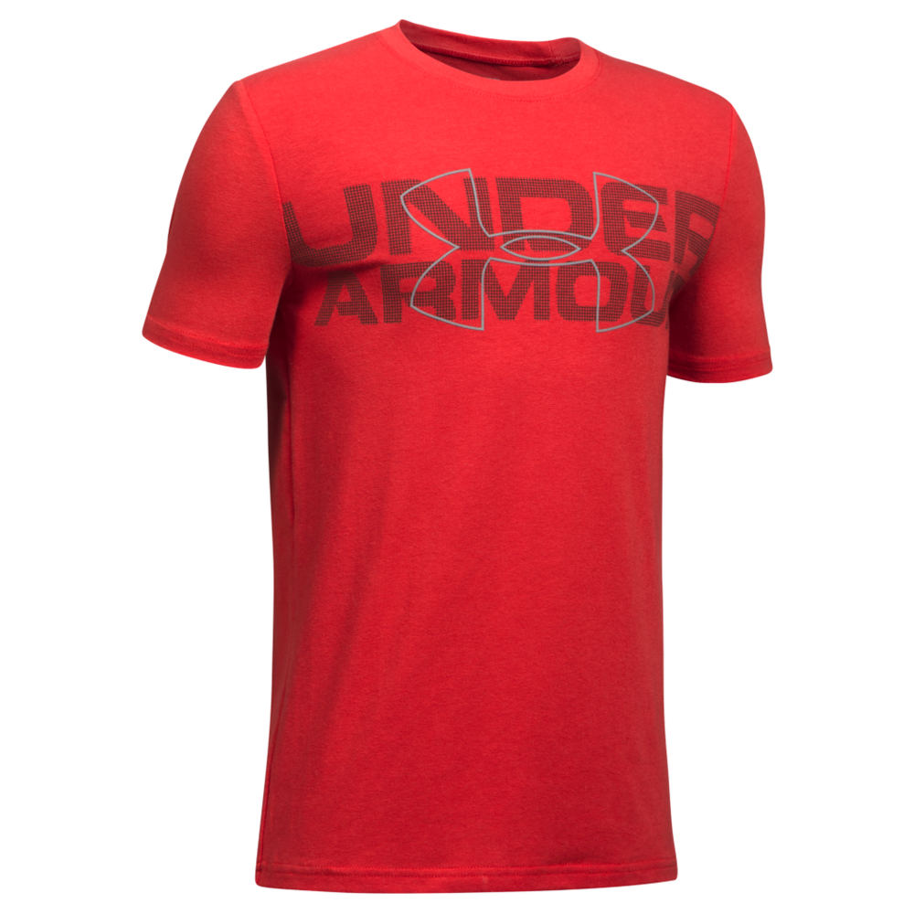 Under Armour Boys' Duo Armour SS Tee Red Knit Tops S 823959REDS