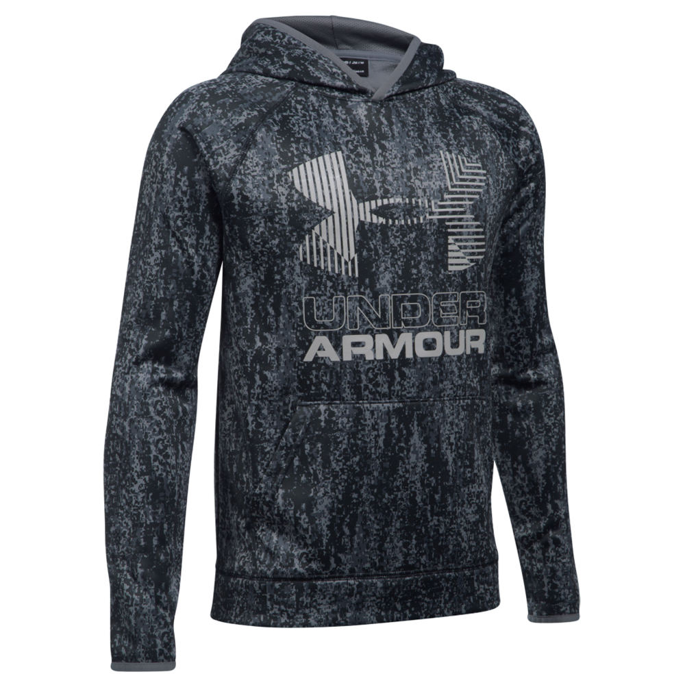Under Armour Boys' SG AF Nov. Big Logo Hoodie Black Knit Tops M 823963BLKM