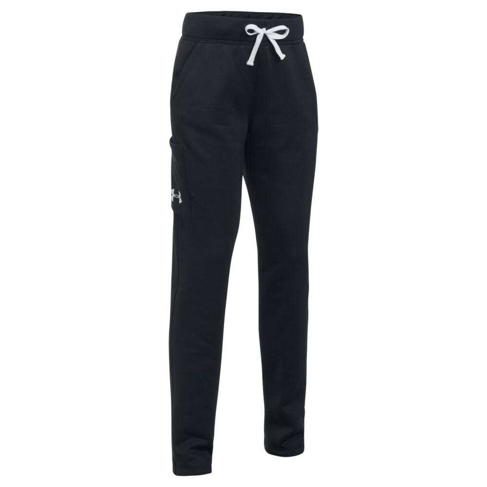Under Armour Girls' Armour Fleece Pant Black Pants L-Regular 823966BLKL