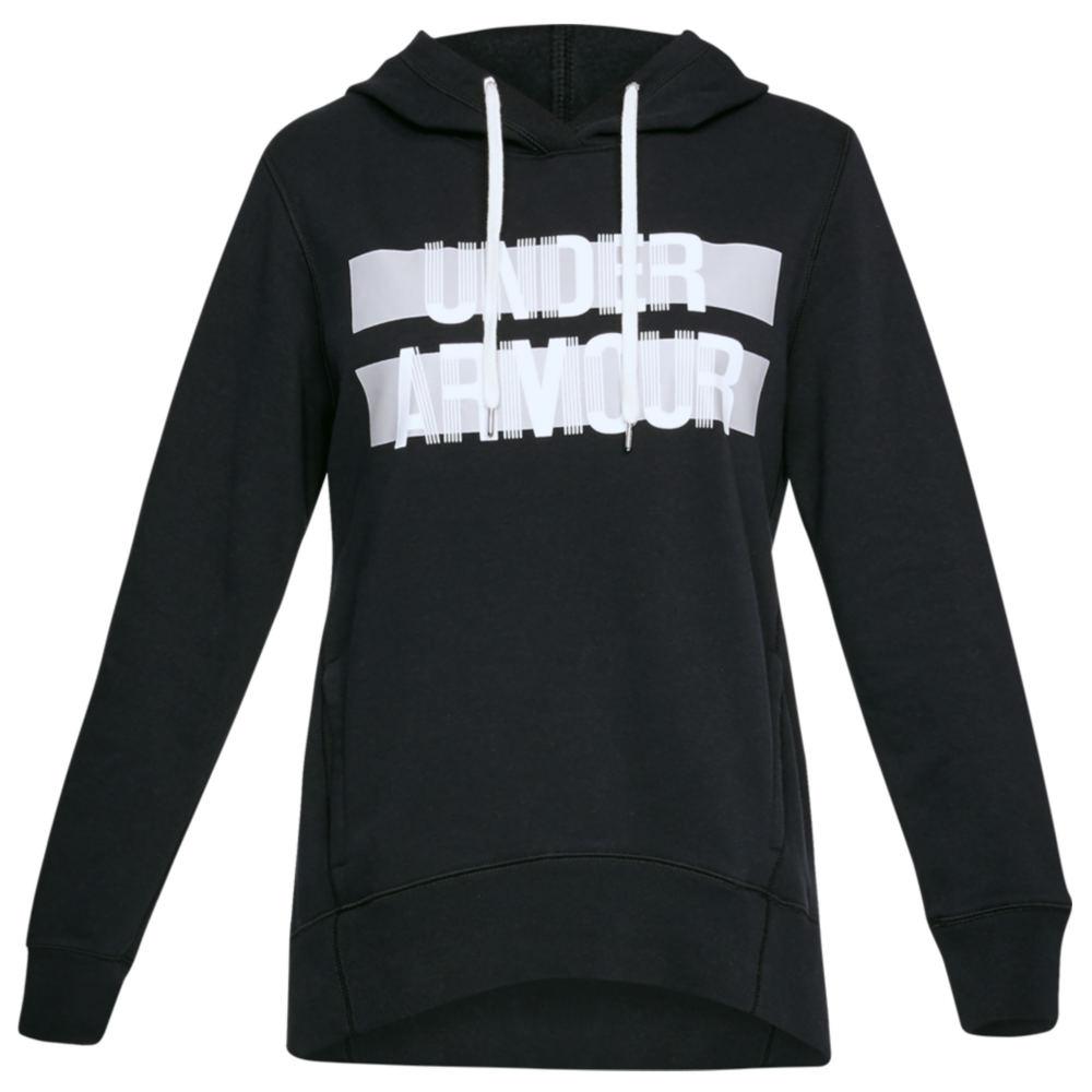 Under Armour Women's Favorite Fleece Hoodie-Wordmark Graphic Black Knit Tops XXL 712328BLK2XL