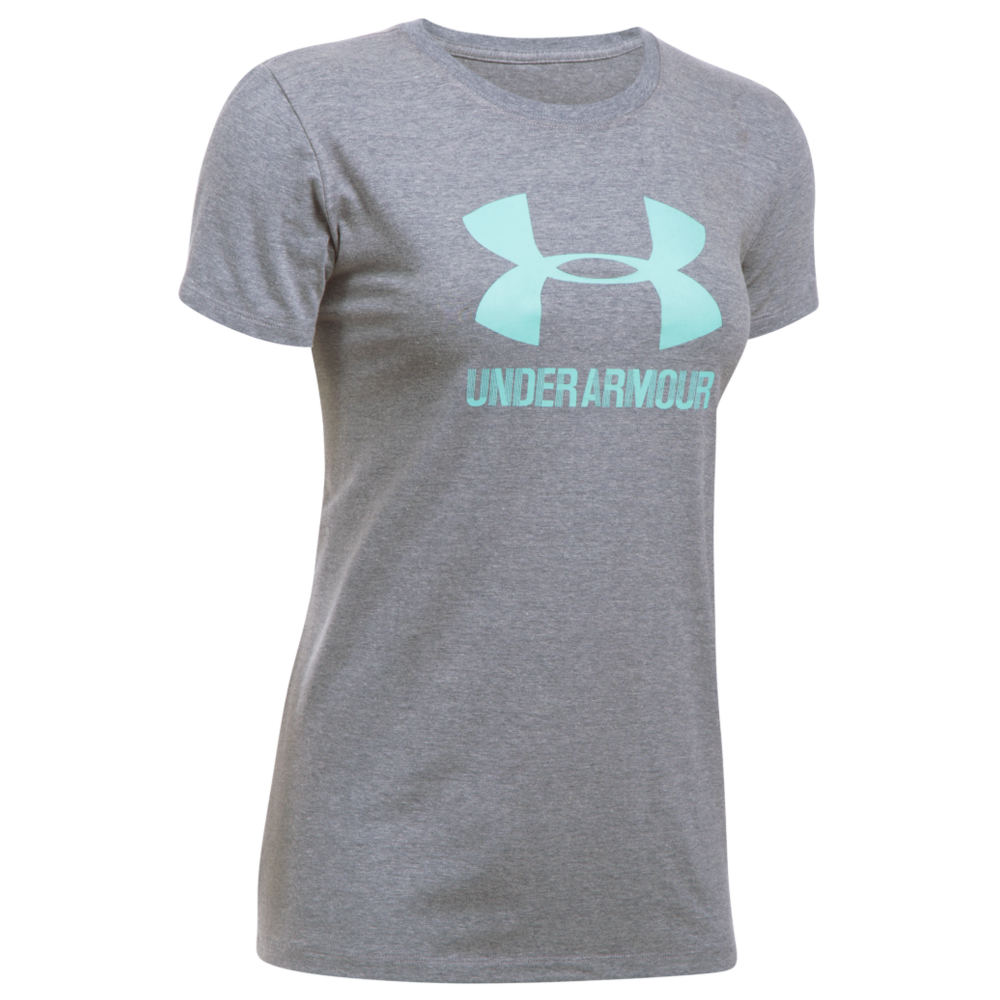 Under Armour Women's Sportstyle Crew Tee Blue Knit Tops XXL 712334MID2XL