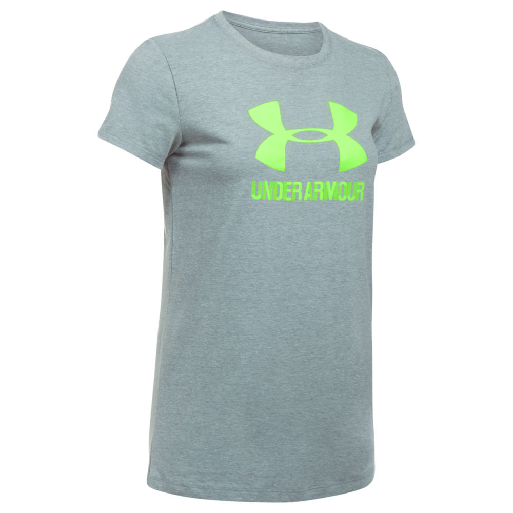 Under Armour Women's Sportstyle Crew Tee Grey Knit Tops XL 712334HGRXL